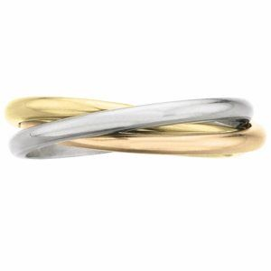 """Tri-tone interlocking """"rolling ring"""" with 2mm bands - Memoire ®"""