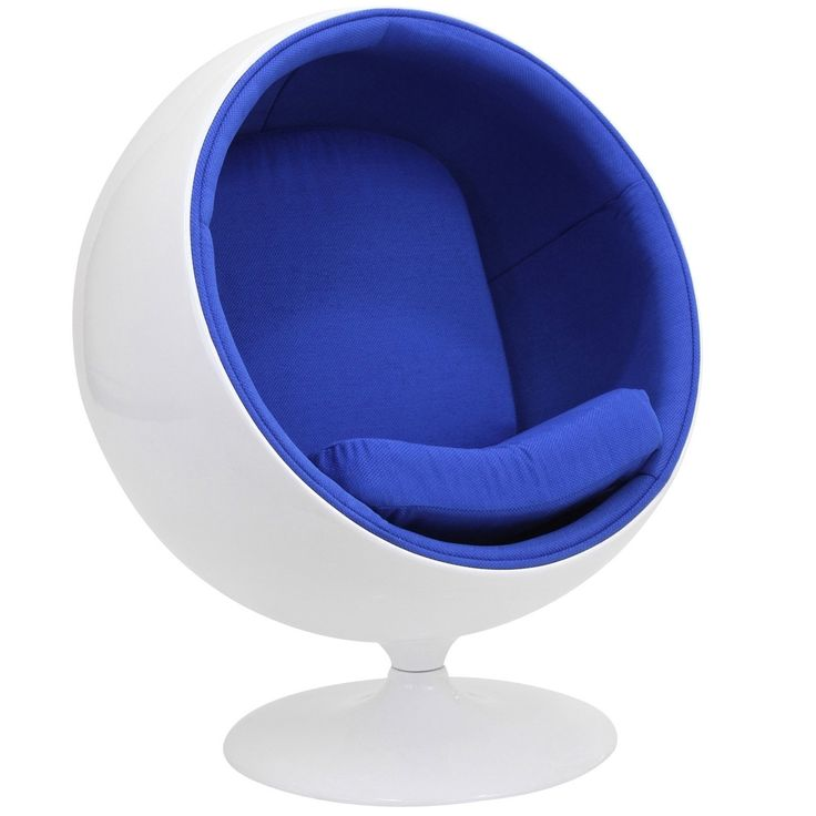 Amazon.com   LexMod Eero Aarnio Style KIDS Ball Chair In Blue   Chaise  Lounges