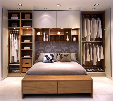 small master bedroom storage ideas | Open shelves or readymade bookcases  also offer a way to