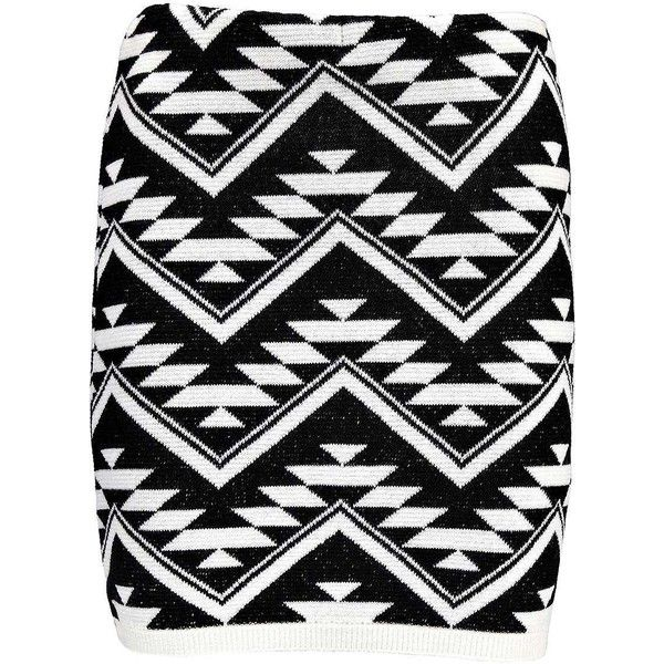 Boohoo Kate Aztec Knitted Mini Skirt (€5,96) ❤ liked on Polyvore featuring skirts, mini skirts, short mini skirts, aztec print skirt, aztec mini skirt, mini skirt and short skirts