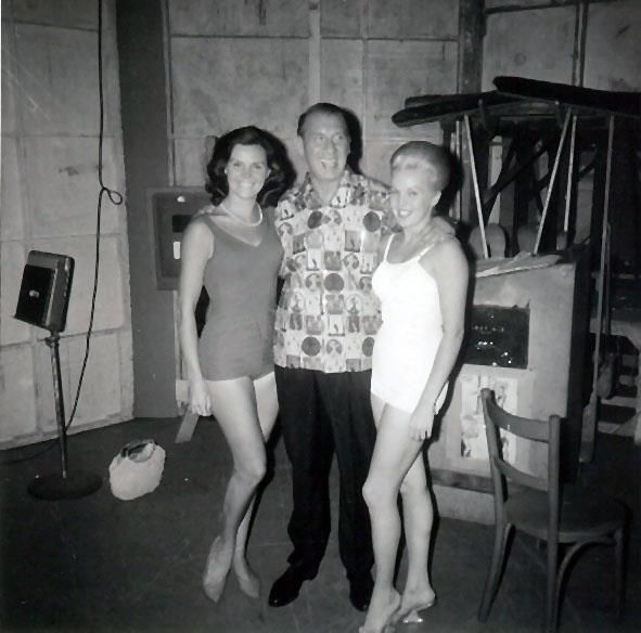 Marie Wallace (left) with Henny Youngman