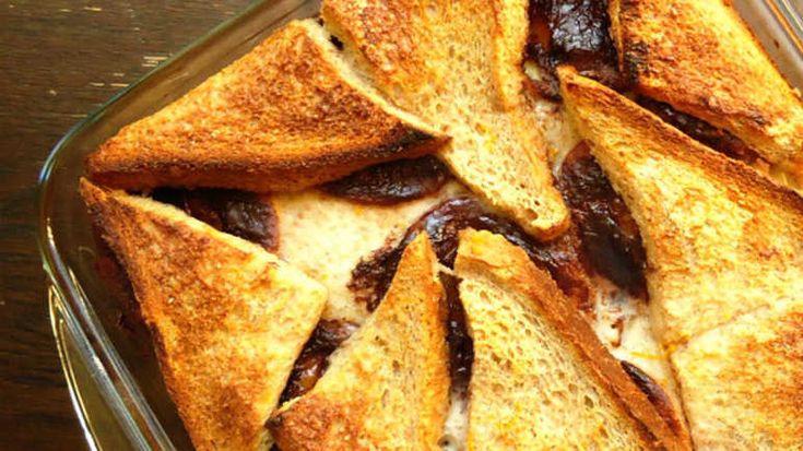 Jaffa cake bread pudding recipe