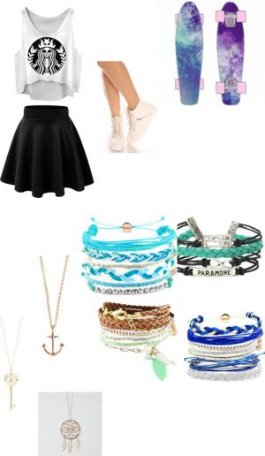 """Super Cute Penny Board Outfit Parts"" by lyzzeedawson on Polyvore"