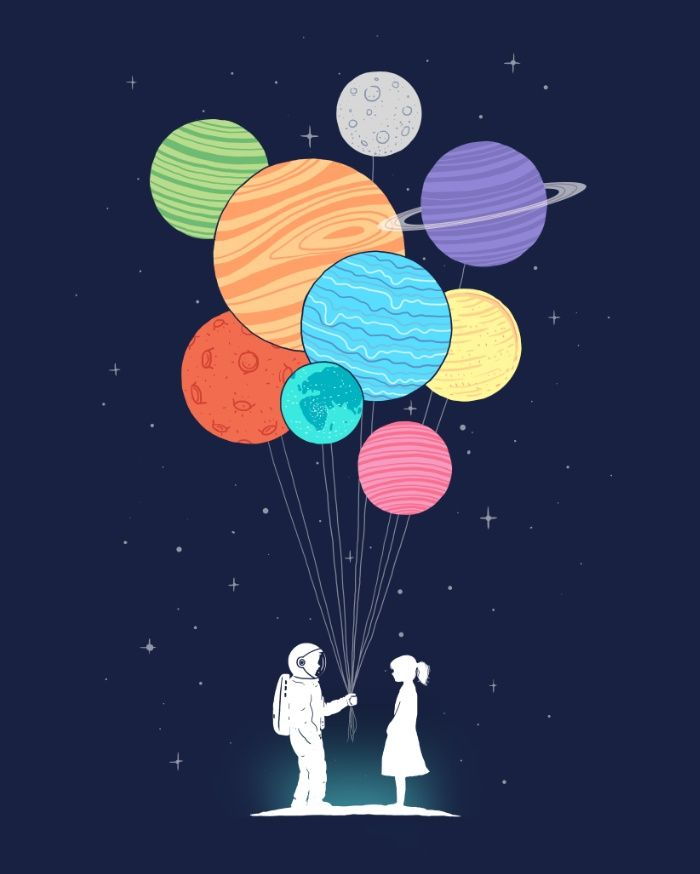 1000drawings - You are my universe by I Love Doodle