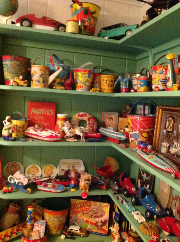 Collection of Vintage and Antique Toy Display - Vintage Collectibles at Ruby Lane www.rubylane.com @rubylanecom