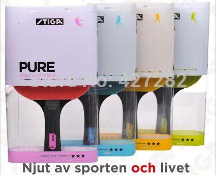 Stiga originale PURO ping pong racchette racchette da tennis tavolo colorato nuovo giocatore finito racchette sport racchetta stiga racchette