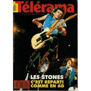 Télérama - n°2110 - 20/06/1990 - Les Rolling Stones : c'est reparti comme en 60 [magazine mis en vente par Presse-Mémoire]