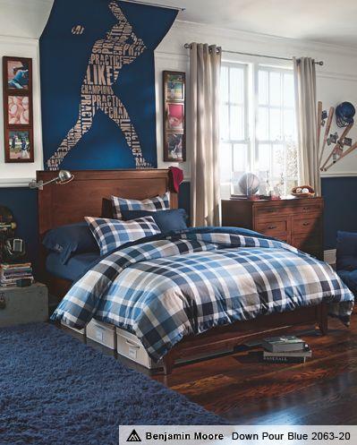 Cool Bedrooms For Boys & Plaid Hampton Bedroom | PBteen boys room idea