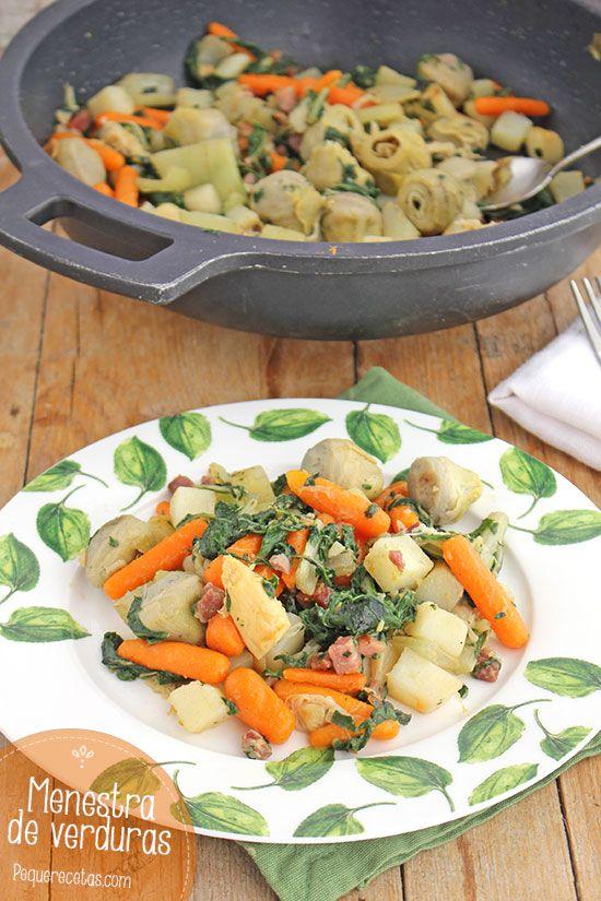 Menestra de verduras, ¡sana y riquísima!