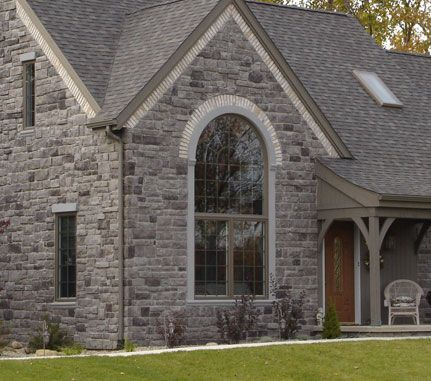 Home Exterior Grey Cobblefield Cultured Stone 174 Brand