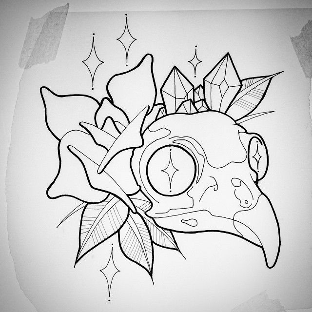 19 best New School Skull Tattoo Designs Drawings images on ...