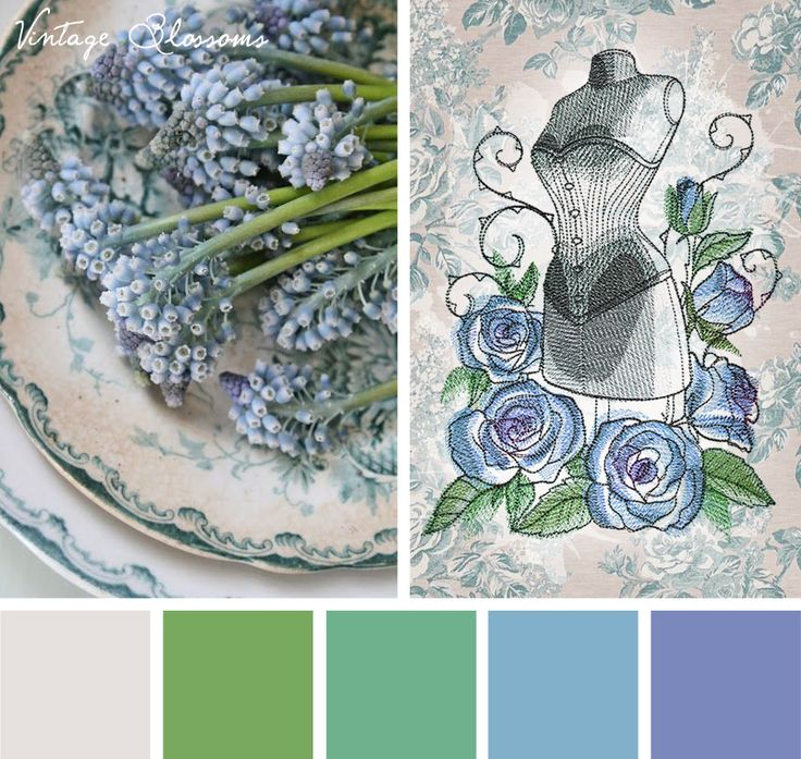 Transform something dark into something delicate and light with this Vintage Blossoms color inspiration.
