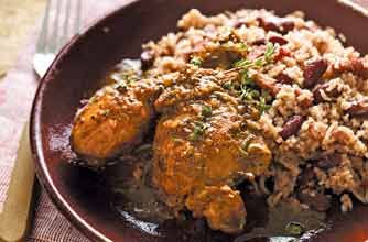 Jamaican rice and beans with jerk chicken recipe - Recipes - goodtoknow