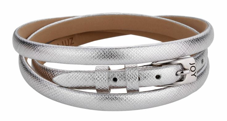 Joy de la Luz | Leather buckle bracelet silver