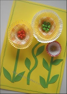 Craft - 3D Cupcake flower card