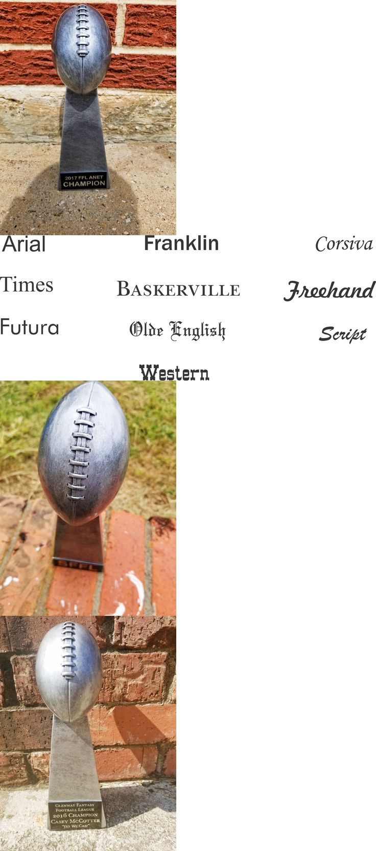 Other Football 2024: 10 Antique Silver Fantasy Football Trophy, Football Award -> BUY IT NOW ONLY: $30 on eBay!