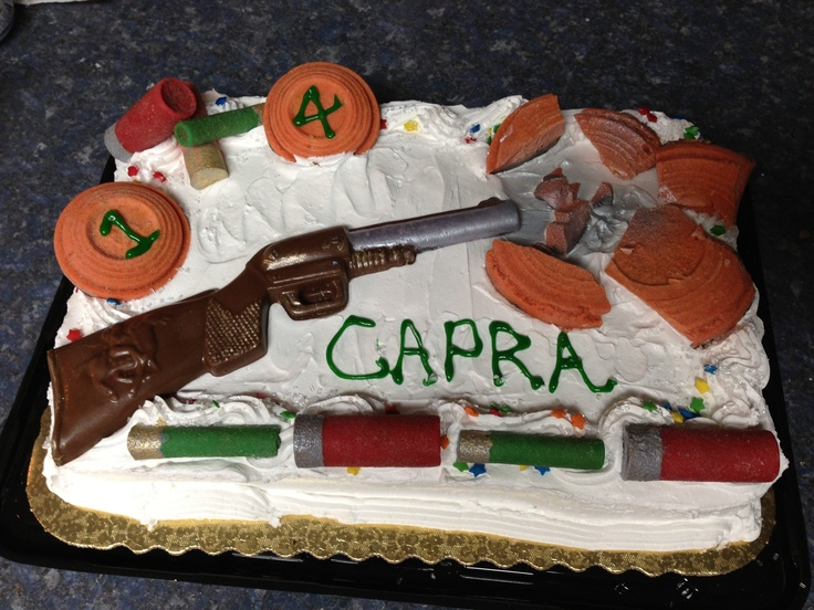 Gun Cake Decorating Ideas : 9 best images about Skeet shooting on Pinterest Cute ...