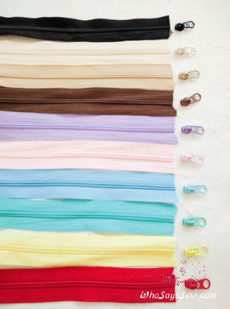 Continuous (By-the-Metre) Size 3 Nylon/Polyester Chain Zipper in 10 Colours. Perfect for bags& accessories - Who Says Sew