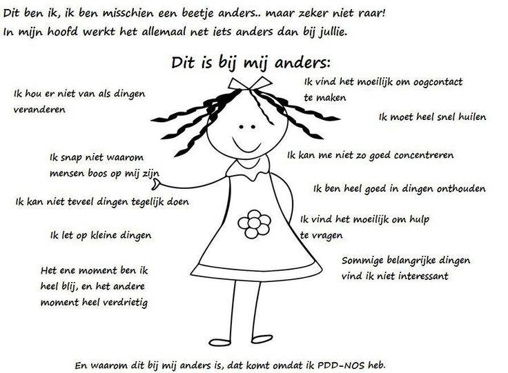 En waarom dit bij mij anders is, dat komt omdat ik pdd-nos heb (autisme)