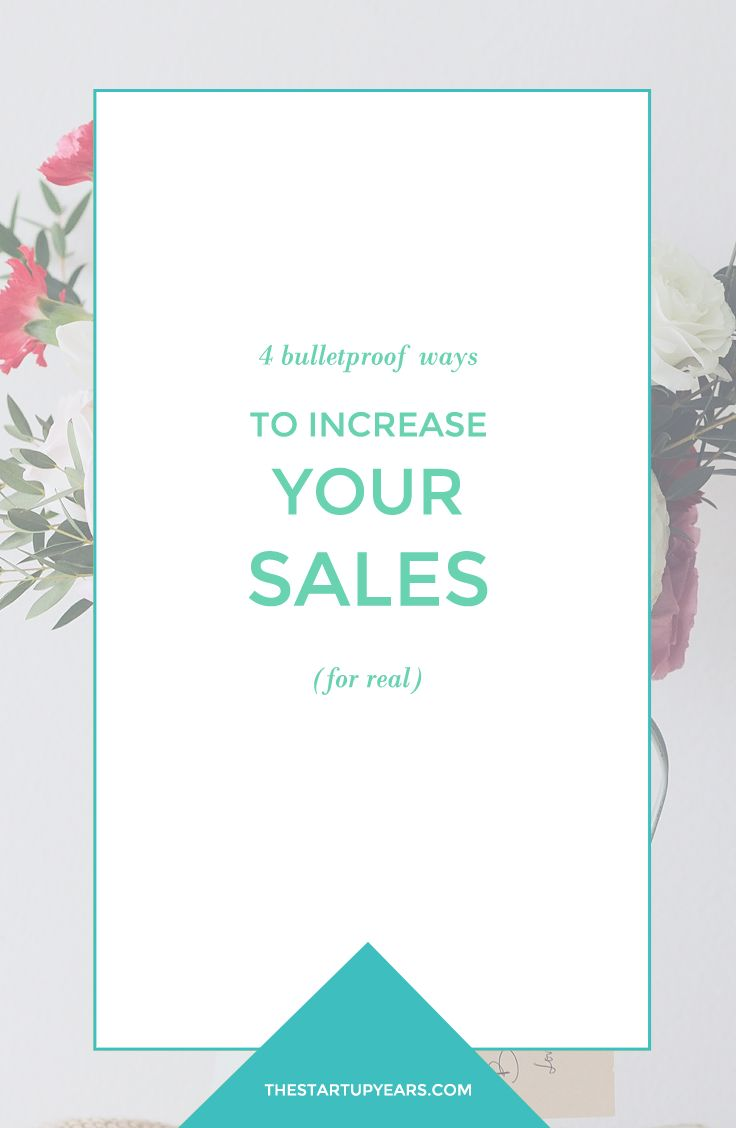 Looking for more sales? Here are 4 easy ways to increase sales in your online shop. Click to read more or pin and save for later!