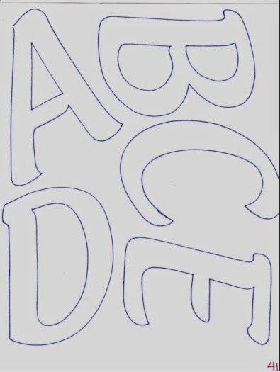Abecedario de letras mayúsculas alargadas   Fomiart LETRAS Y NUMEROS