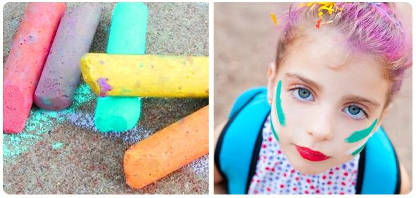 Color Hair with Sidewalk Chalk | Community Post: Crazy Hair Day Ideas