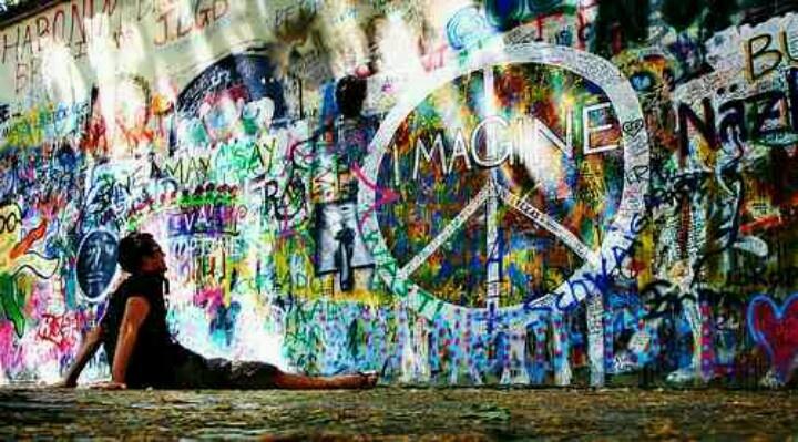 imagine: Friends, Hippie, Hands, Color, Graffiti, Street Art, Inspiration Pictures, Beauty Things, Imagination Peace