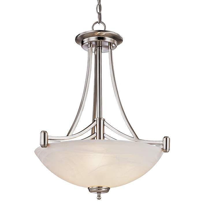 Kathy Ireland 4-Light Deco Scale Pendant Chandelier - #60158 | Lamps Plus