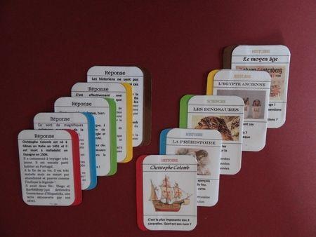 cartes histoire questions/réponses sur différentes périodes