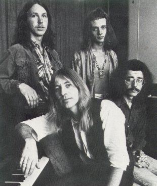 Highway in 1970, clockwise from top left, Jim Lawrie, Phil Pritchard, George Limbidis and Bruce Sontgen.