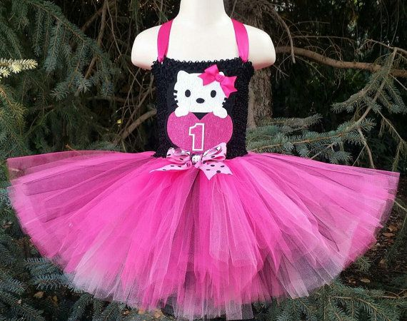 Pick Your Colors Hello Kitty Tutu Dress by TutuOclockSomewhere