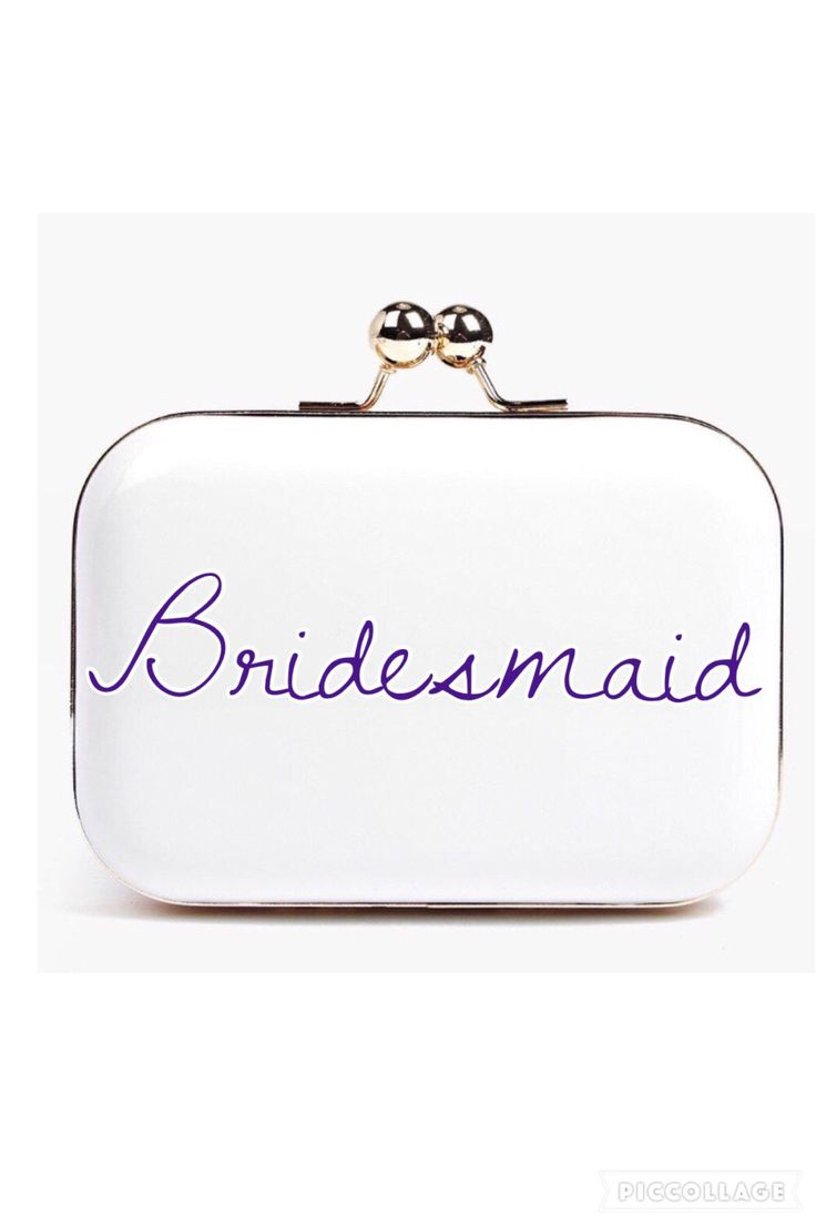 Bridesmaid purse by CherryBombBtq on Etsy https://www.etsy.com/uk/listing/492982131/bridesmaid-purse