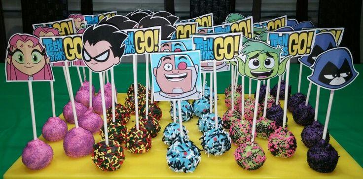 Teen Titans Go Cake Pops