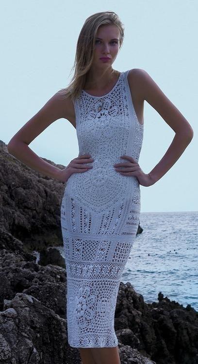 ...crochet dress...crochet inspiration ONLY...