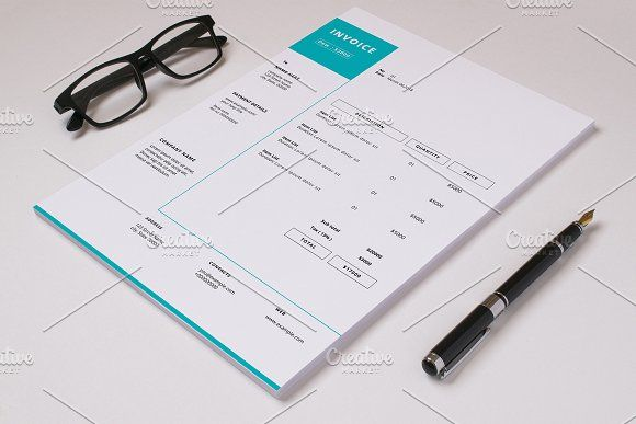Business Invoice Template V08 by Template Shop on @creativemarket - shop invoice