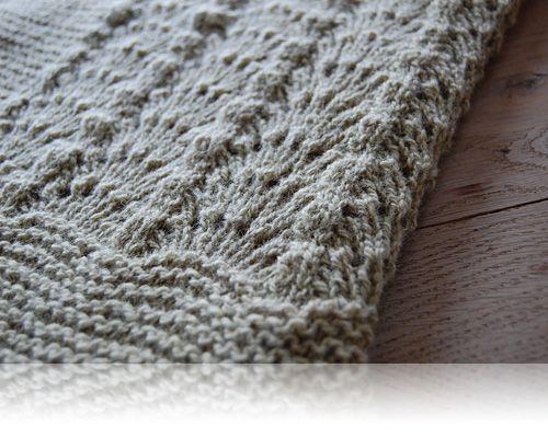 Bølger…Annes noter til det fine babytæppe fra Drops