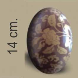 Categoría: Moldes Plasticos - Producto: Molde Huevo Pascua Con Transfer Nº 14 Rosas Oro - Envase: Bolsa - Presentación: X    4 Unid. - Marca: Lodiser