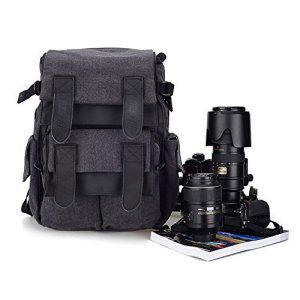 [ Nouveauté] BESTEK Sac à dos pour appareil photo reflex numérique en canevas