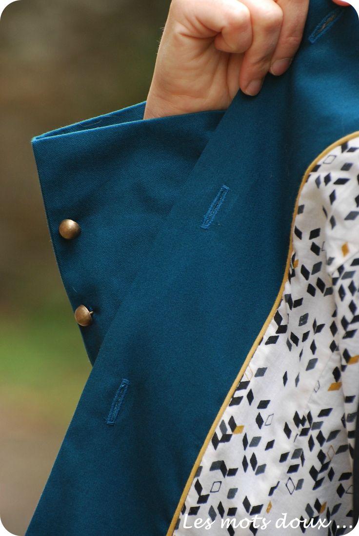 Trench AMETHYSTE, Grains de Couture pour Hommes & Femmes, patrons de couture, Ivanne SOUFFLET, by Les Mots Doux