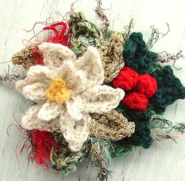 Best 25+ Knitted flowers images on Pinterest | Crocheted flowers ...