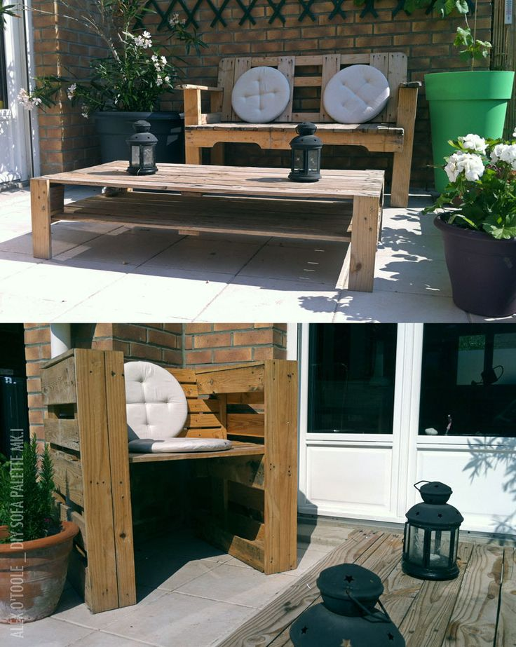 Garden Sofa from pallets #Garden, #Pallet, #Sofa