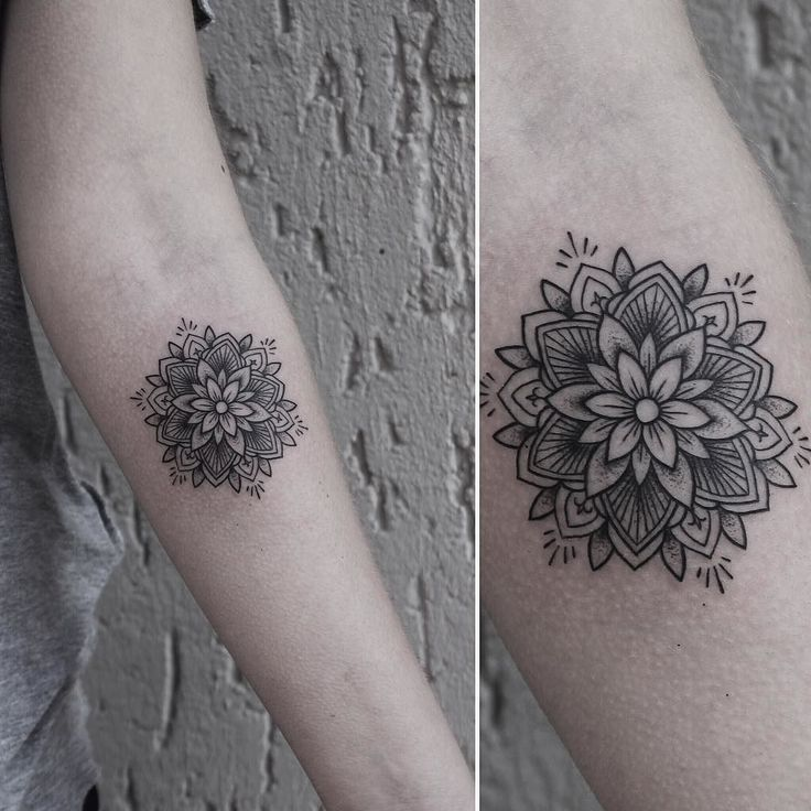 Small mandala for Sophie today. Thank you! #rachainsworth #tattoo…
