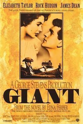 Giant Movie Poster Elizabeth Taylor James Dean - Ad#: 932785 - Addoway