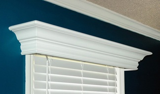 an example of a wood cornice box traditional style