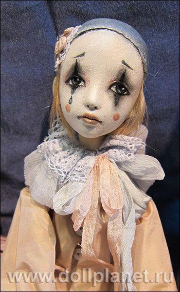Авторская кукла Пьеро Татьяны Симуковой (Dolls Pierrot Tatiana Simukova):