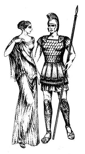 Древнегреческий костюм хитона