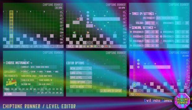 Chipune Runner Level Editor - WIP.