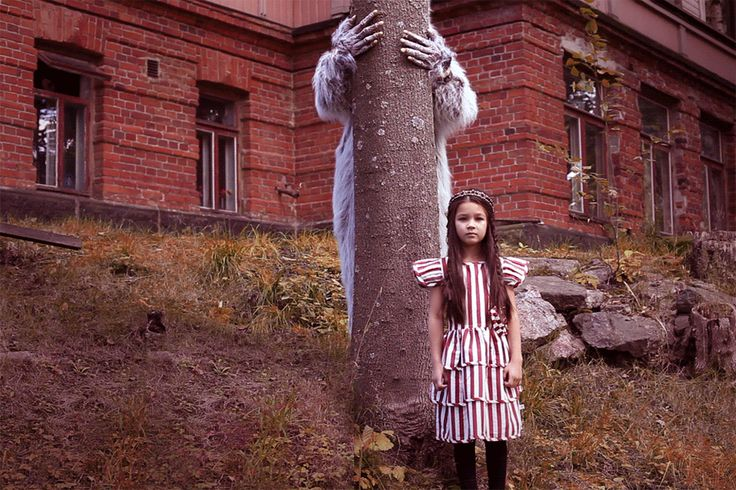 Jade/Dress by Jumina, a Norwegian Fairytale/A Vintage headband/Tights by H&M. Oh, grandmother, what a big mouth you have! - RAWR Magazine