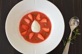 イチゴ&ルバーブスープ
