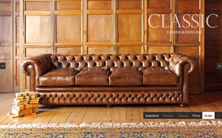 """Stamford"" sofa from Fleming & Howland"